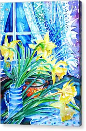 A Bouquet Of April Daffodils  Acrylic Print by Trudi Doyle