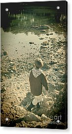 A Boy Acrylic Print by Jasna Buncic