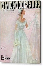 A Bride Wearing A Mindelle Dress Acrylic Print by Somoroff