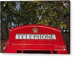 A British Phone Box Acrylic Print