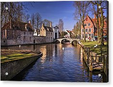 Blue Bruges Acrylic Print