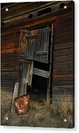 A Bucket And A Door Acrylic Print by Jeff Swan