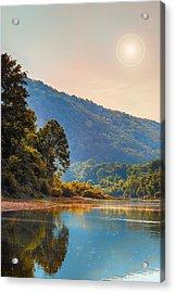 A Buffalo River Morning  Acrylic Print by Bill Tiepelman