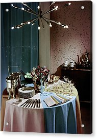 A Buffet Table At A Party Acrylic Print