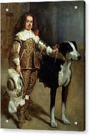 A Buffoon Sometimes And Incorrectly Called Antonio The Englishman Acrylic Print by Diego Rodriguez de Silva y Velazquez