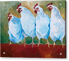 A Bunch Of Old Clucking Hens Acrylic Print