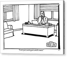 A Businessman At His Desk Acrylic Print