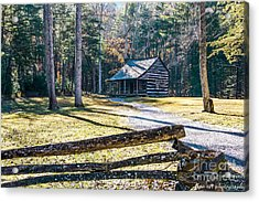 A Cabin In Cades Cove Acrylic Print by Marilyn Carlyle Greiner