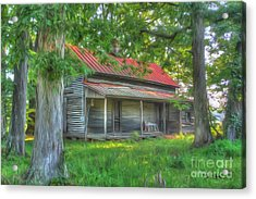 A Cabin In The Woods Acrylic Print by Dan Stone