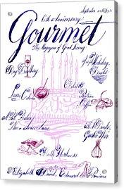 A Calligraphy Illustration Celebrating Sixty Acrylic Print