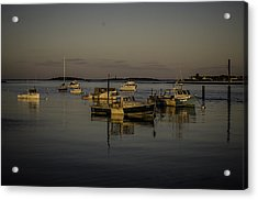 A Calm Evening At Camp Ellis Acrylic Print by Jonathan Ramsdell