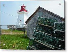 A Canadian Coastguard Lighthouse, Neils Acrylic Print