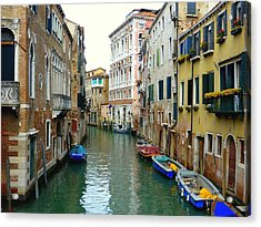 A Canal In Venice Acrylic Print by Bishopston Fine Art