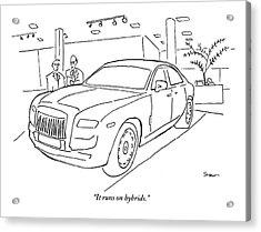 A Car Salesman Tells His Friend That The Large Acrylic Print