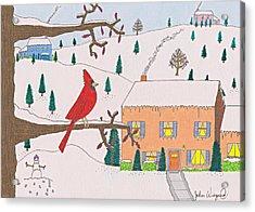 A Cardinal Christmas Acrylic Print