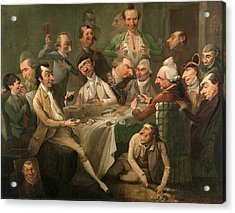 A Caricature Group A Caricature Group Including Members Acrylic Print by Litz Collection