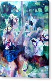 A Carousel Ride Acrylic Print by Patrice Burkhardt