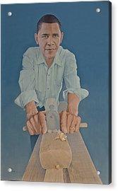 A Carpenter Chinese Citizen Barack Obama  Acrylic Print by Tu Guohong