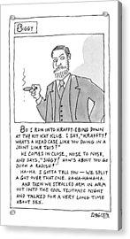 A Cartoon Panel Called Siggy Where Sigmund Freud Acrylic Print