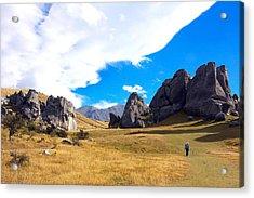 A Castle Hill Walk Acrylic Print by Stuart Litoff