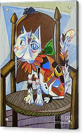 A Cat For Picasso_ Chat Et Souris Acrylic Print