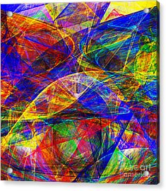 A Cats Dream 20130512 Square Acrylic Print by Wingsdomain Art and Photography