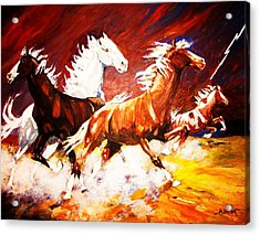 Acrylic Print featuring the painting A Cause For Alarm by Al Brown