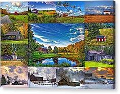 A Celebration Of Barns  Acrylic Print by Steve Harrington