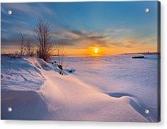 A Celebration Of Snow Acrylic Print by Dustin Abbott