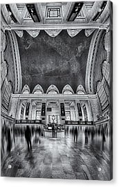 A Central View Bw Acrylic Print
