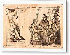 A Certain Cabinet Junto, En Sanguine Engraving 1775 Acrylic Print