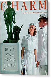 A Charm Cover Of The Concord Minute Man Acrylic Print by Farkas