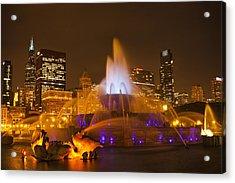 A Chicago Twilight Acrylic Print by Andrew Soundarajan