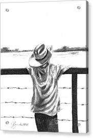 A Child On A Farm Acrylic Print by J Ferwerda