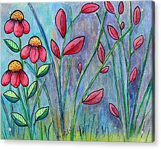 A Child's Garden Acrylic Print by Suzanne Theis