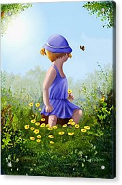 A Child's Thoughts Acrylic Print by Sena Wilson