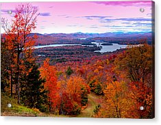 A Chilly Autumn Day On Mccauley Mountain Acrylic Print by David Patterson