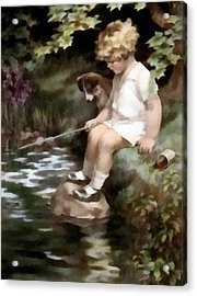 A Chip Off The Old Block Acrylic Print by Bessie Pease Gutmann