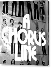 A Chorus Line Vintage Bw Acrylic Print by Toni Ryder