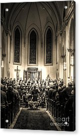 A Christmas Choir Acrylic Print