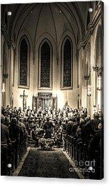 A Christmas Choir Acrylic Print by Maddalena McDonald