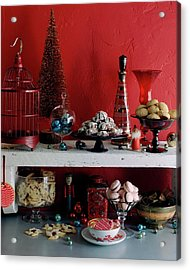 A Christmas Display Acrylic Print by Romulo Yanes
