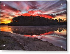 A Christmas Eve Sunrise Acrylic Print