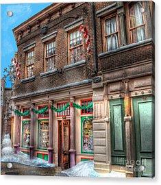 A Christmas Experience Acrylic Print by Arnie Goldstein