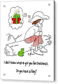 A Christmas Frog Acrylic Print