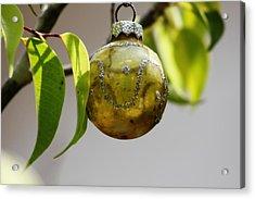 A Christmas Ornament Any Tree Acrylic Print by Carolina Liechtenstein