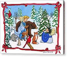 A Christmas Scene 2 Acrylic Print by Sarah Batalka