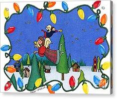 A Christmas Scene Acrylic Print by Sarah Batalka