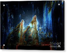 A Christmas Story In Rust Acrylic Print by Newel Hunter