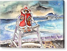 A Christmas Troll In Lanzarote Acrylic Print by Miki De Goodaboom
